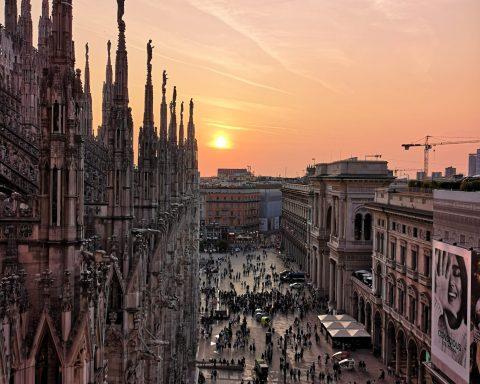 Tramonto Guglie Duomo